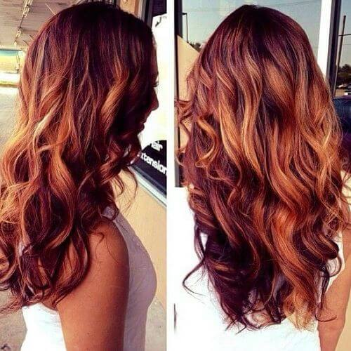 Incredible Red Hair With Low Lights Best Hairstyles 2017 Hairstyles For Women Draintrainus