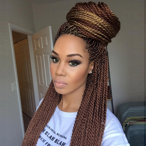 45 Catchy and Pratical Flat Twist Hairstyles Hair Motive - Curly Weave Ponytail Hairstyles