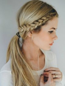 Crown Braid and Low Ponytail