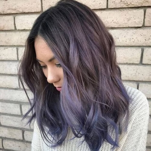 Dark Lavender Hair Lowlights