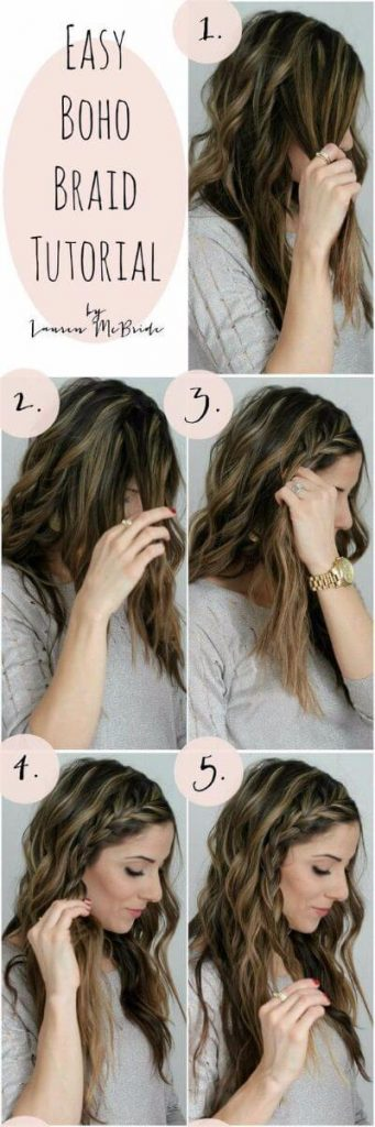Easy Boho Braid Hairstyle for Mornings