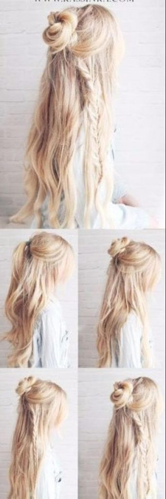 Easy Top Knot and Boho Braid