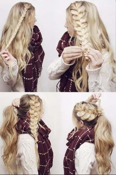 Fabulous Ponytail with Side Braid for Sunny Mornings