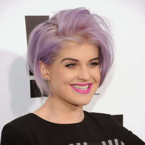 Faded Lavender Hair Short Cut