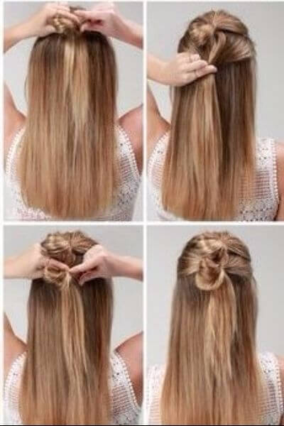 Fast and Fabulous Double Knot Hairstyle for Flawless Mondays