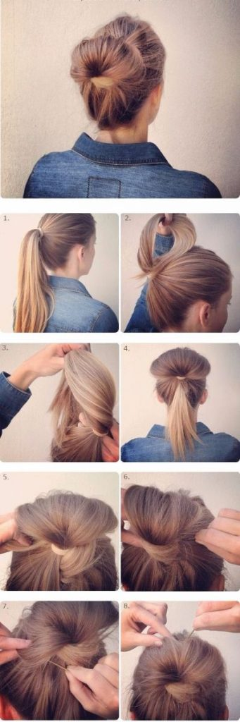 Glamorous Fan Bun 5 Minute Hairstyle