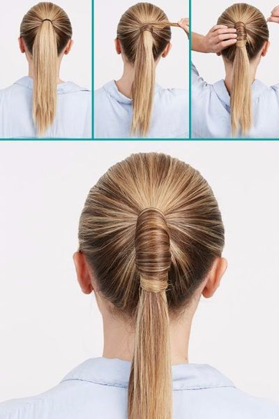 Glamorous Wrapped Ponytail for Special Days