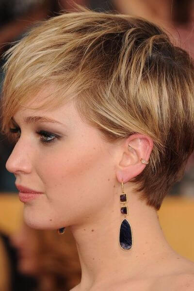 short hair cuts style 65 irresistible wavy hairstyles hair motive hair 4450 | Jennifer Lawrence Pixie Cut
