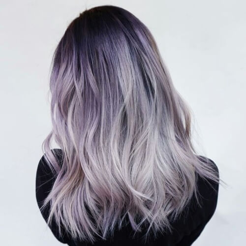 Lavender Hair Ombre with Silver