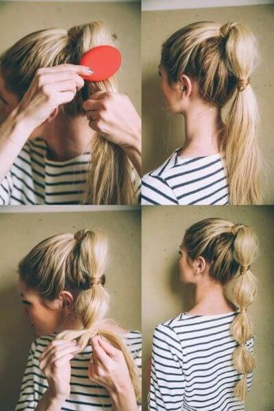Quick Bubble Ponytail for Happy Mornings