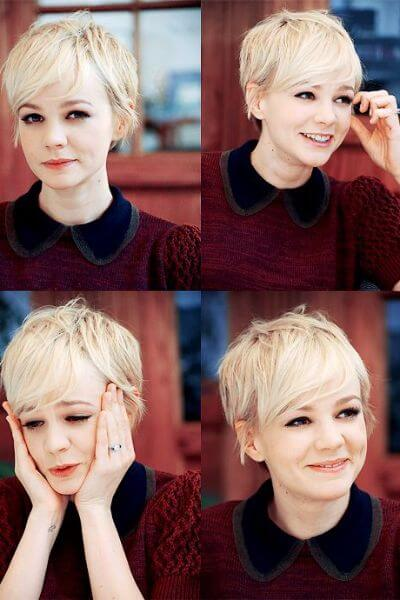 Short Blonde Pixie Cut for Wavy Hair