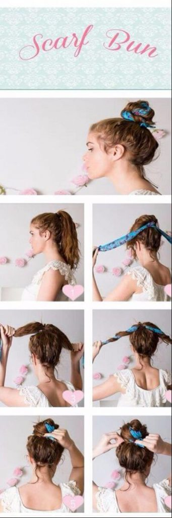 Super Easy Scarf Bun