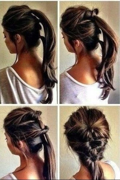 Super Easy Twist Braided Pony Tail