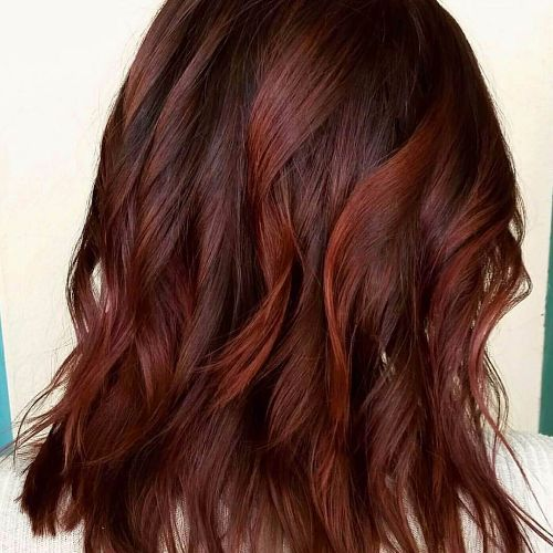 red balayage on short hair