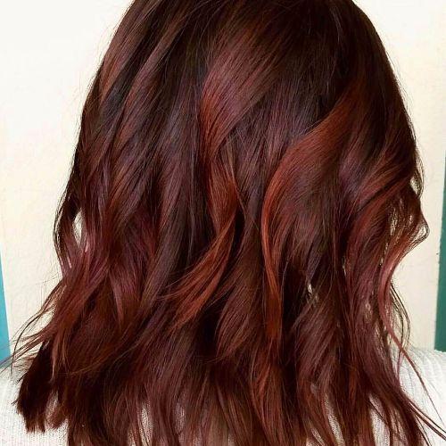 red balayage on short hair