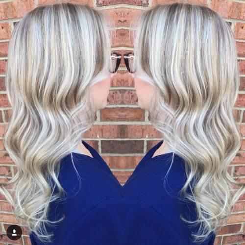 blonde balayage on long hair