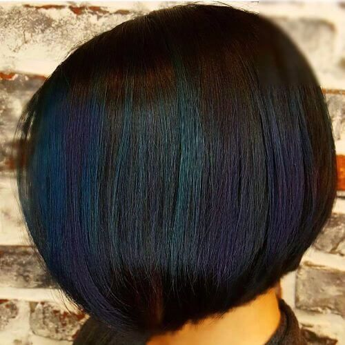 short hair rainbow balayage