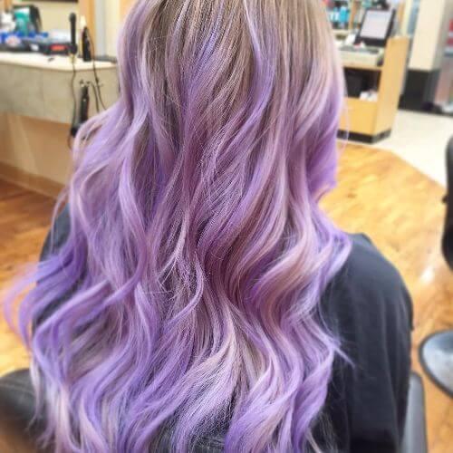 lavender blonde balayage
