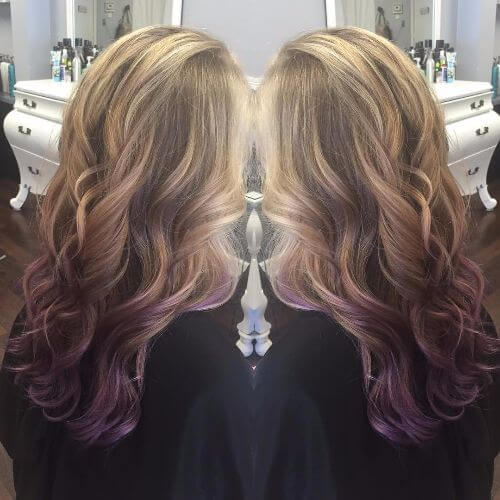 20 Dirty Blonde Hair Ideas That Work On Everyone: 50 Purple Ombre Hair Ideas Worth Checking Out