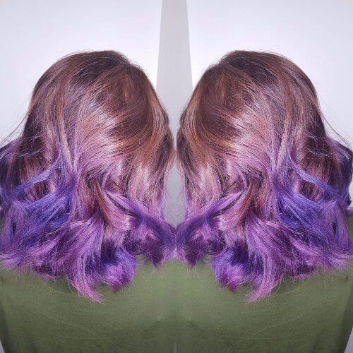 purple tips on blonde hair