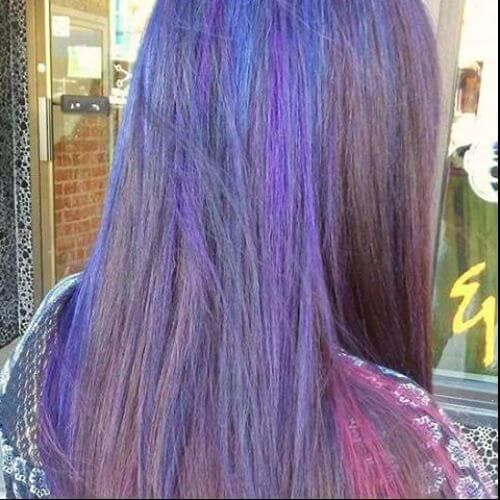 purple balayage highlights