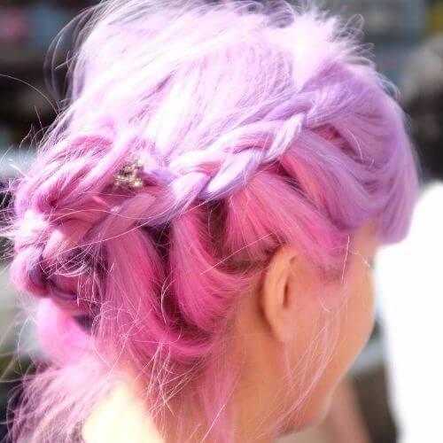 dutch braid purple hair