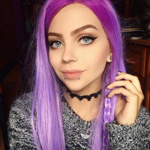 lavender dye on long hair