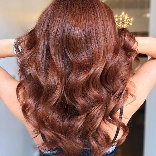 red brown balayage hair