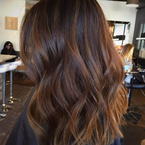 brown balayage for brown hair