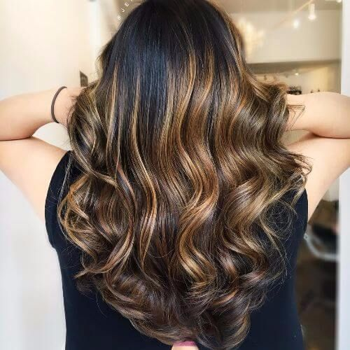 brown balayage for brunettes