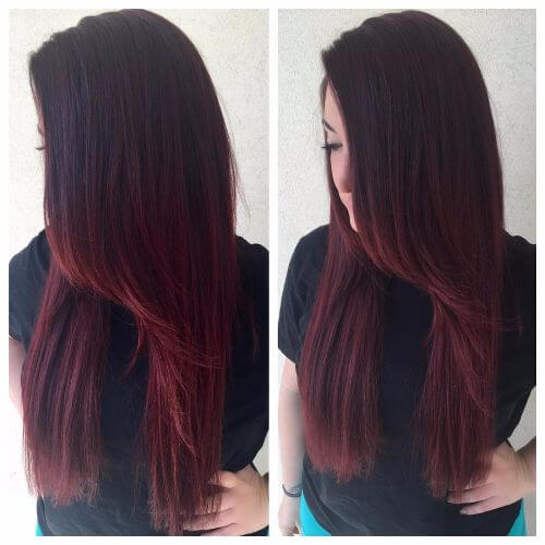 Dark Burgundy Balayage