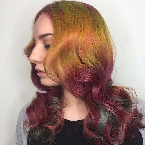 burgundy blonde ombre
