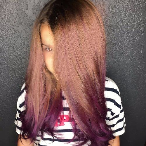 blonde burgundy ombre