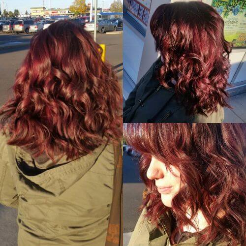 reddish brown burgundy hair color