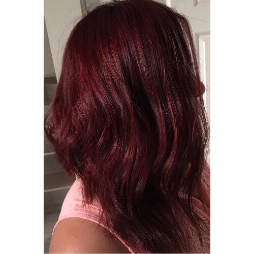 wine burgundy hair color