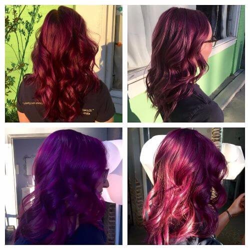 burgundy colors for hair