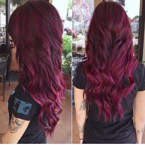 plum burgundy hair color