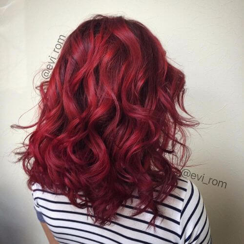 rich wine burgundy hair color
