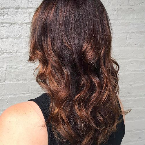 dark caramel balayage highlights