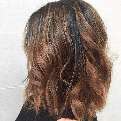 chocolate balayage on brown hair