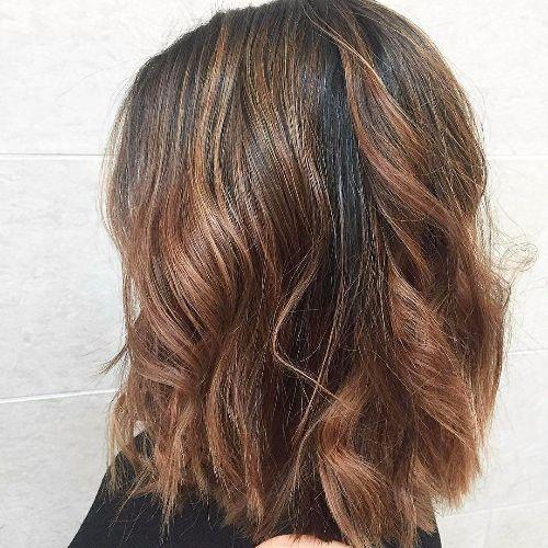 chocolate balayage on brown hair