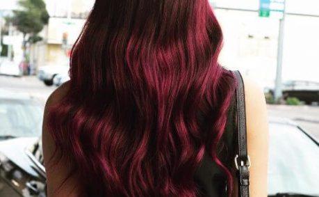 violet burgundy hair color