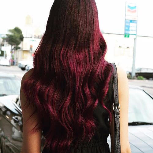 violet burgundy hair color
