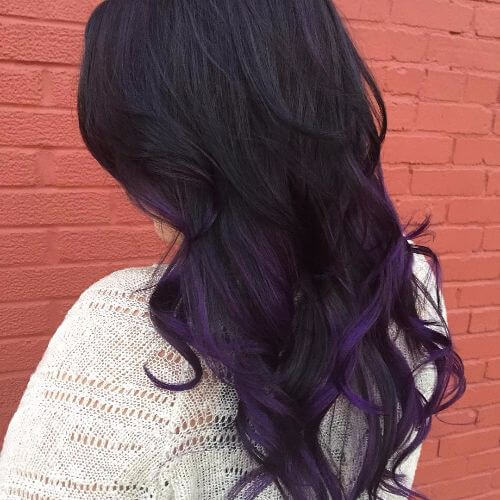 50 purple ombre hair ideas worth checking out hair motive hair purple highlights on black hair pmusecretfo Image collections