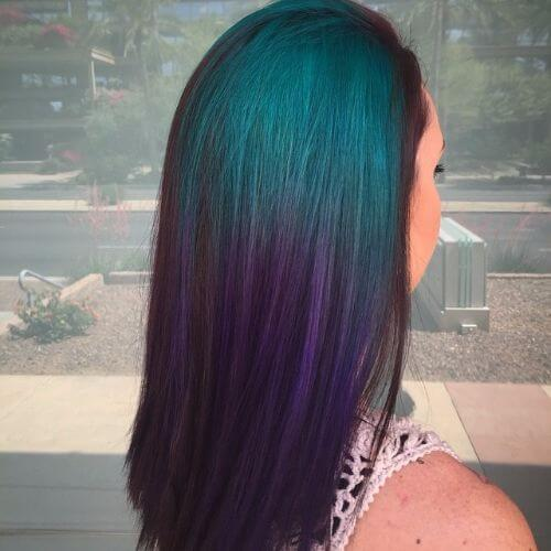 green purple ombre