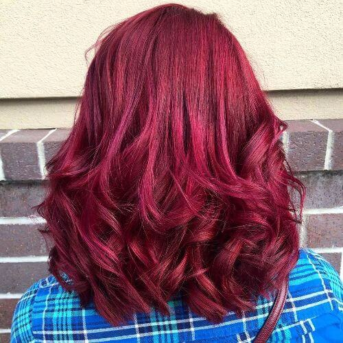 50 vivid burgundy hair color ideas for this fall hair motive rich red burgundy hair color pmusecretfo Choice Image