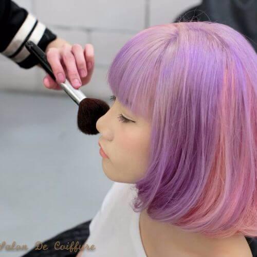 lavender balayage on short hair