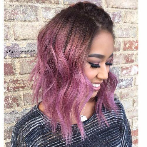 Purple and brown hair color ideas