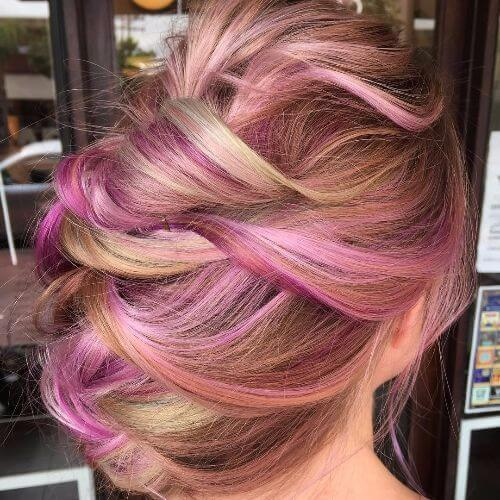 lavender and blonde highlights