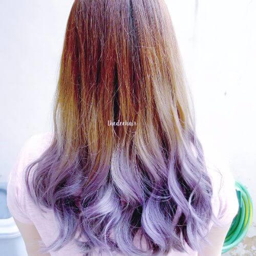 blonde lavender ombre